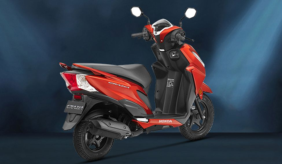 Honda Grazia Scooter Side View