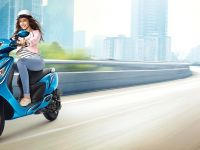 Anushka Sharma with TVS Scooty Zest 110
