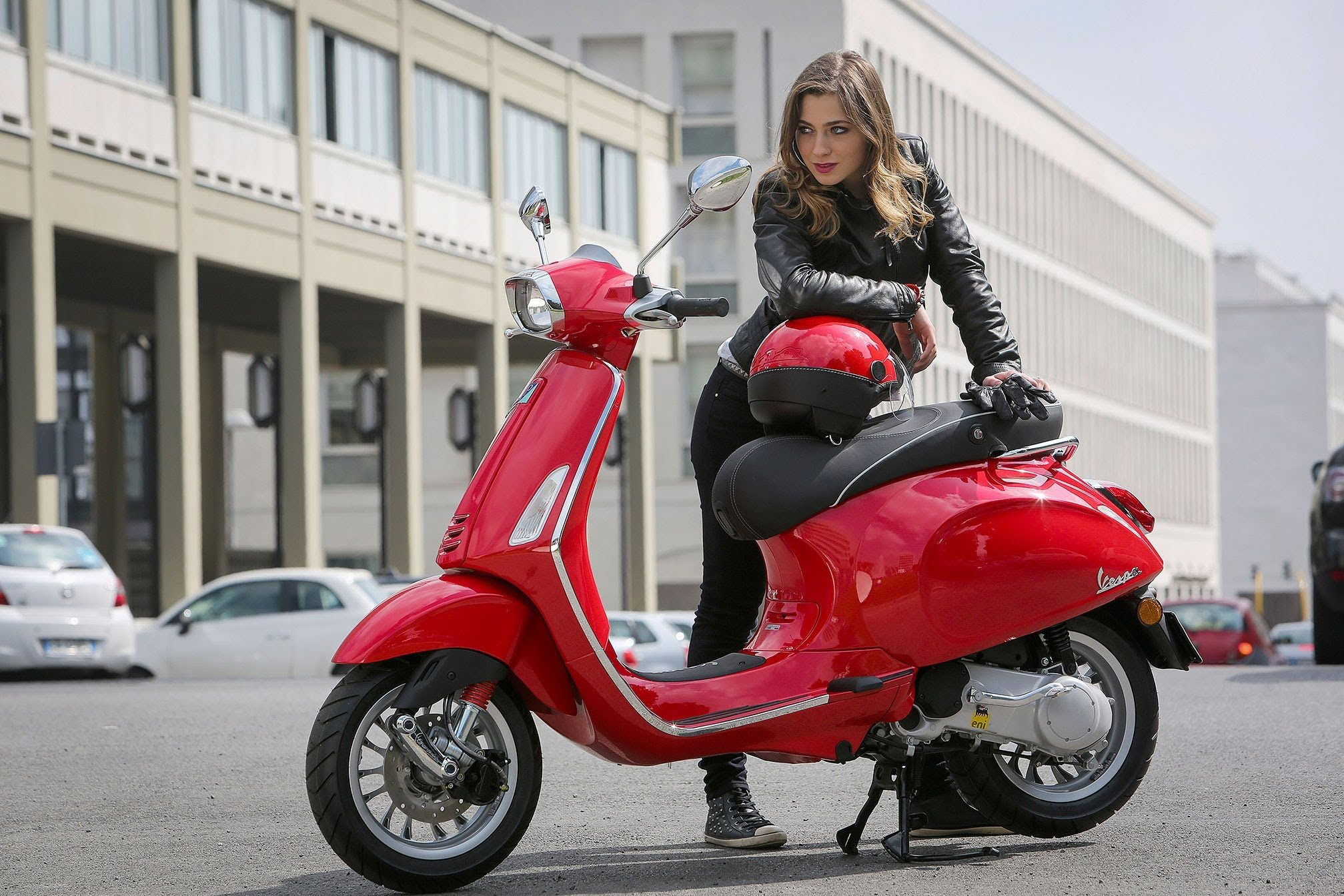 Vespa LX125 Scooter Rider Girl
