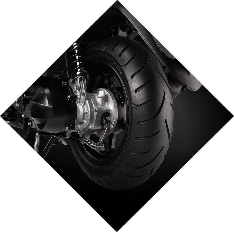 Yamaha QBix Scooter Big 12 Inch Tyre