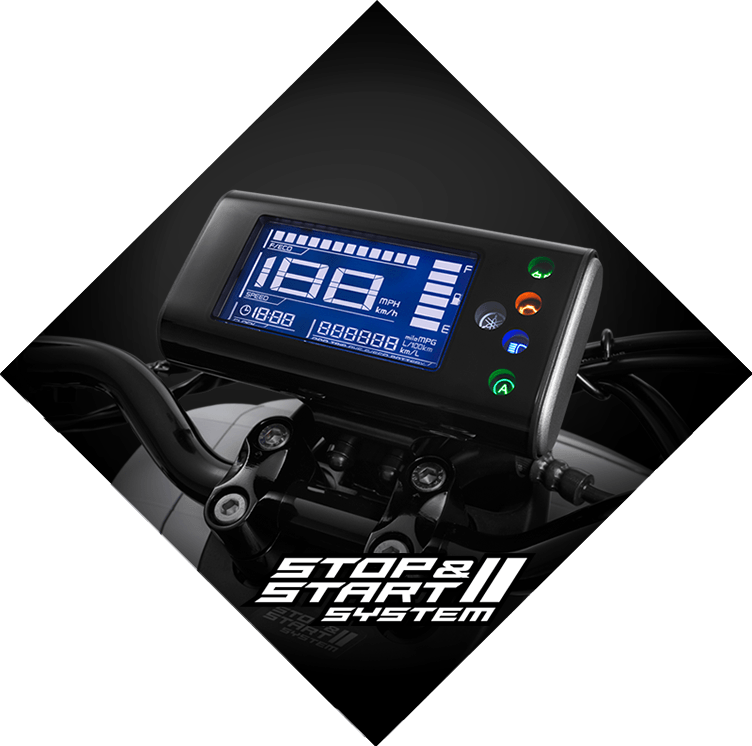 Yamaha QBix Scooter Digital Cluster