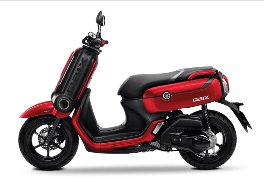 Yamaha QBix Scooter Red Side View